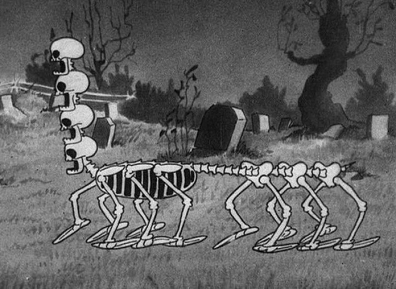 skeleton dance, silly symphony, horror, halloween, animazione, disney