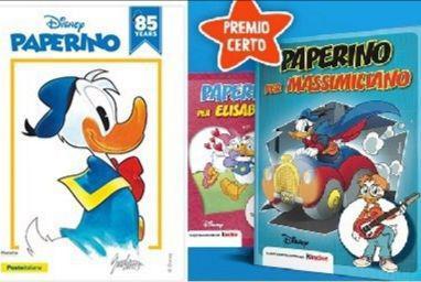 Paperino compie 85 anni: le iniziative Kinder e Poste Italiane