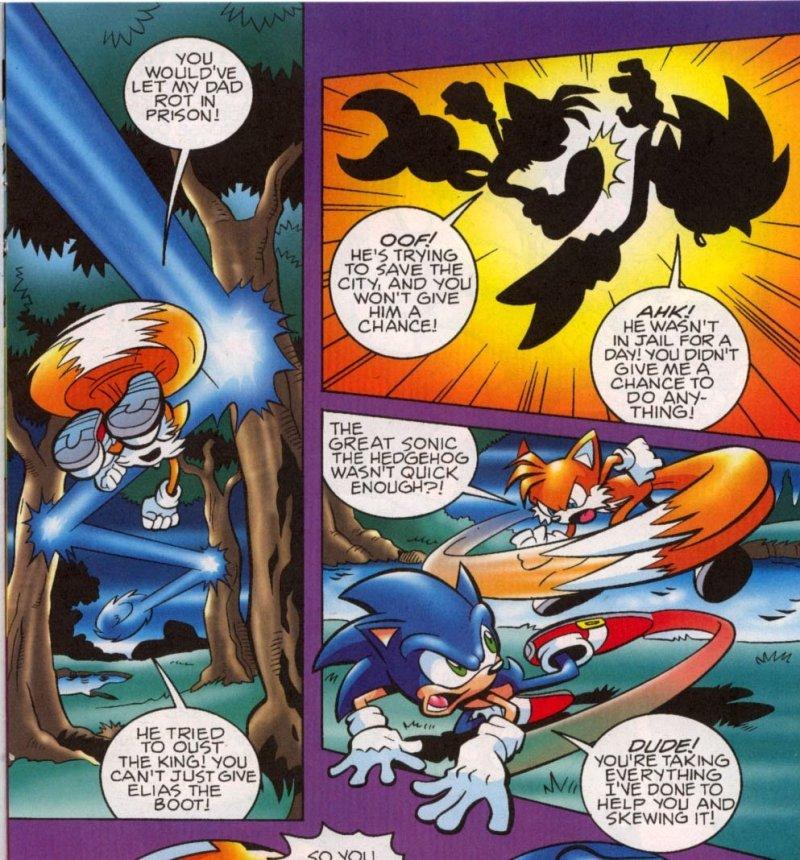 Sonic VS Tails sonic the hedghehog