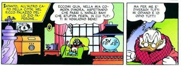 """Prima apparizione di Zio Paperone in """"Paperino e il Natale sul Monte Orso"""" (Zio Paperone e l'ultima avventura)"""