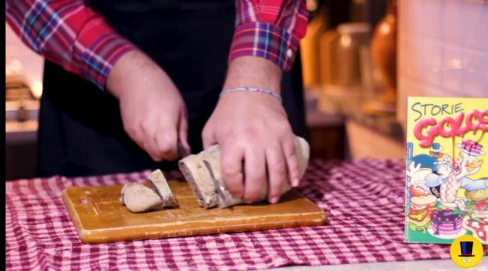 Tagliare e tostare delle fette di pane