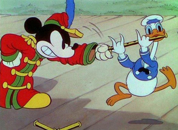 il-concerto-bandistico-paperino-topolino perché Paperino parla male