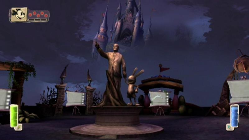 Statua raffigurante Walt Disney e Oswald proveniente da Epic Mickey