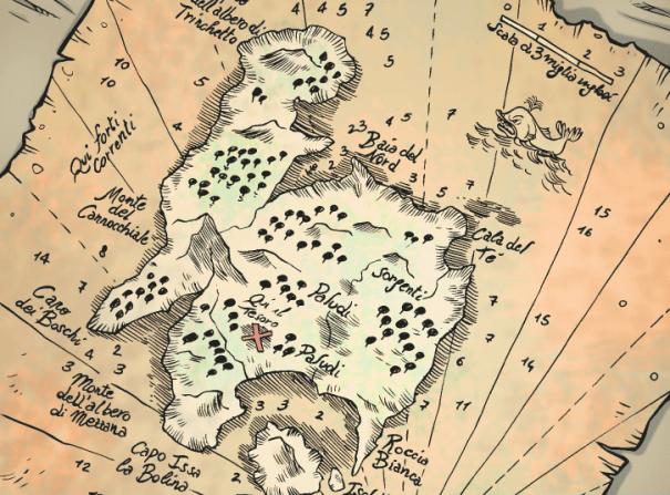 mappa Isola del tesoro