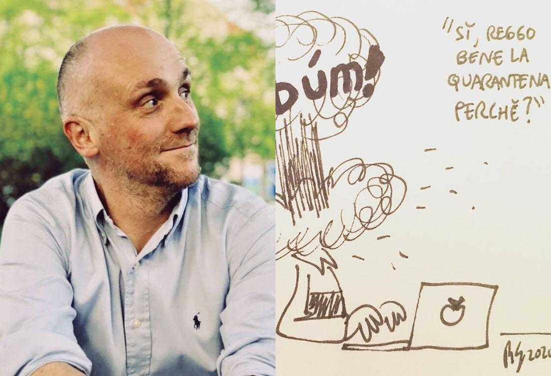 """Roberto Gagnor: """"Io, fumettista, e le mie vignette da quarantena. E su Pk…"""""""