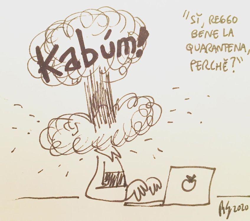 vignetta quarantena di Roberto Gagnor