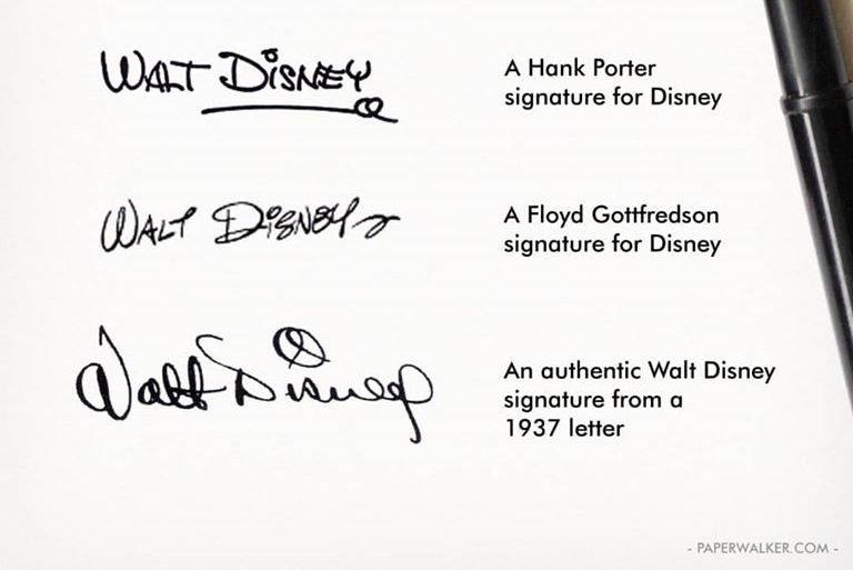 La firma di Walt Disney è un falso?