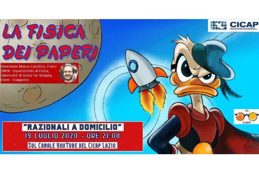 La Fisica dei Paperi: stasera su YouTube con il CICAP