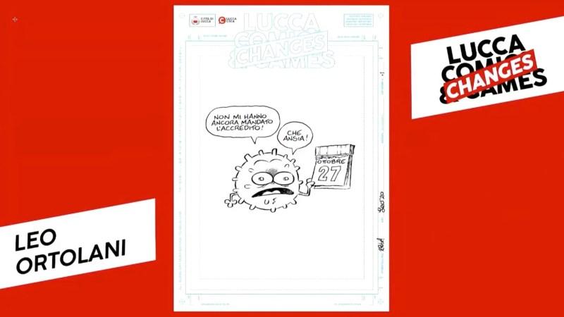 Una delle 10 locandine, opera di Leo Ortolani Lucca comics 2020
