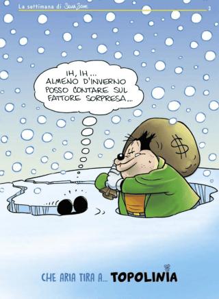 Topolino e Gambadilegno nella neve