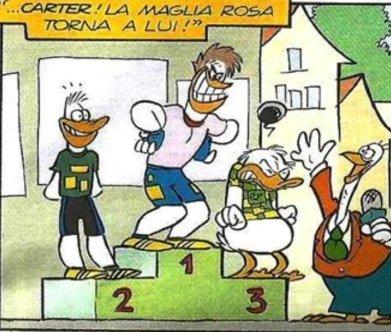 Paperino vs Carter al Giro d'Italia