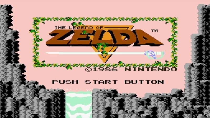 Zelda 1 schermata apertura