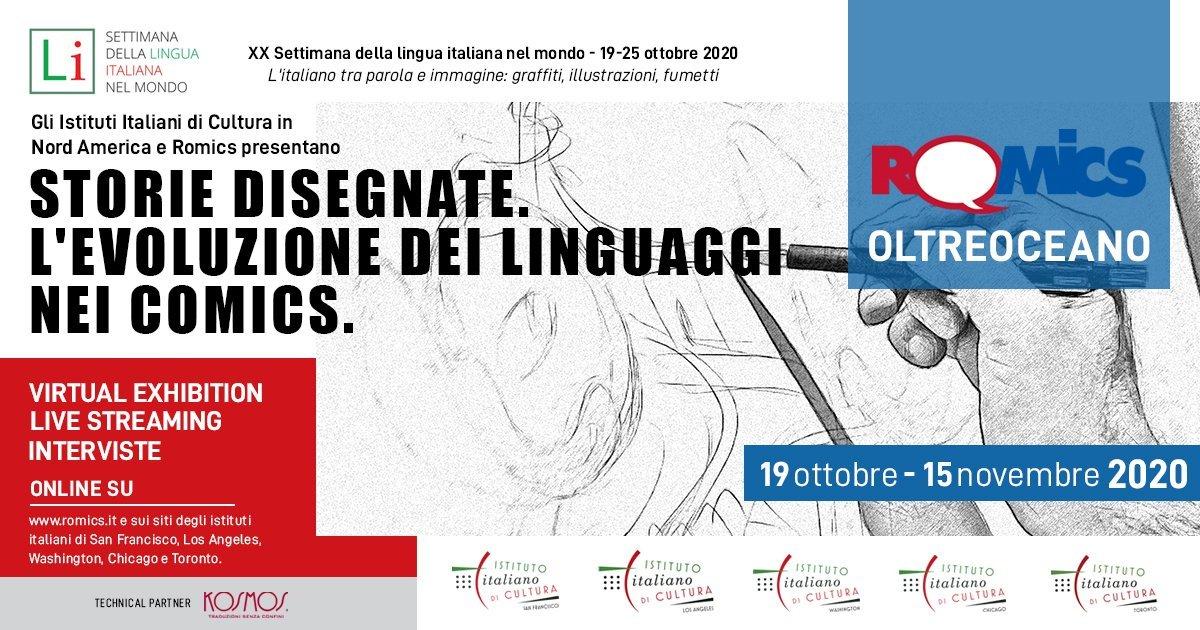 XX Settimana della lingua italiana nel mondo, c'è anche una mostra digitale (e gratuita) di Romics