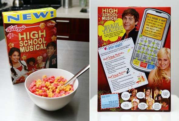 high school musical cereali