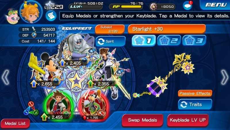 Kingdom Hearts Union Cross Disney mobile