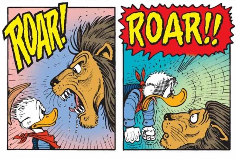 roar paperone leone onomatopee
