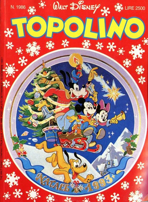 copertine natale topolino 1986
