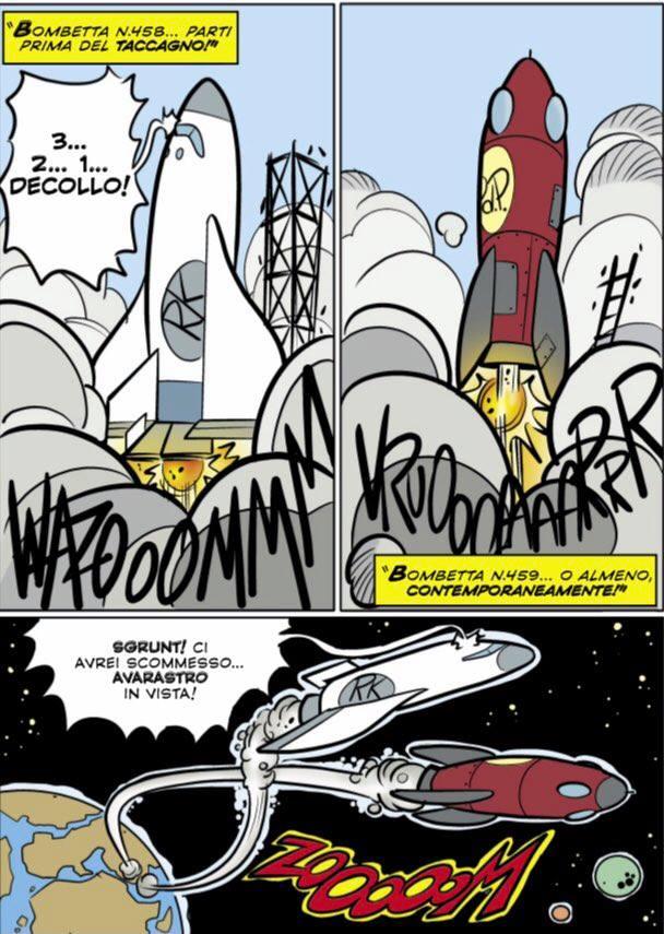Gli shuttle di Rockerduck e Paperone vanno in orbita