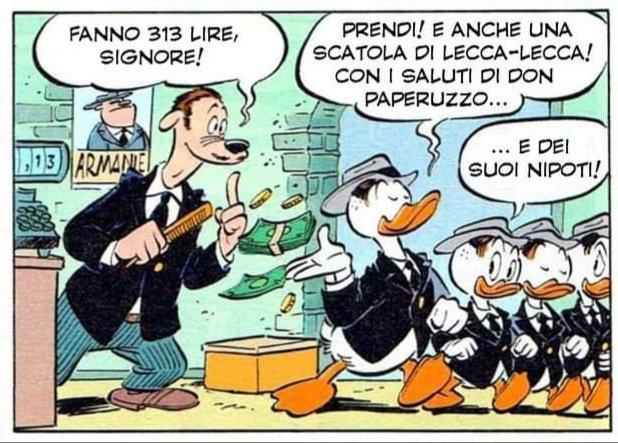 """""""Paperino e il padrino della pizza"""": vestiti da mafiosi"""
