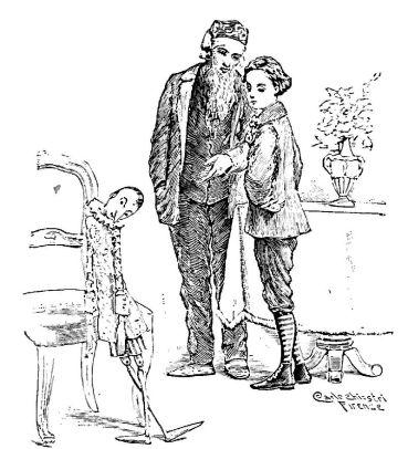 Pinocchio bambino vero