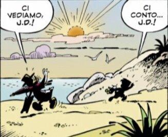 Rockerduck saluta J.D.