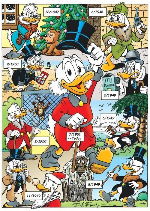 early versions of scrooge mcduck don rosa