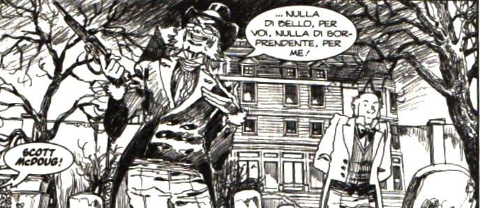 Caricature di Paperone e Battista in Dylan Dog.
