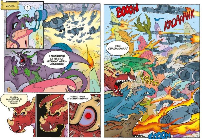 i draghi si scontrano con i guerrieri di ferro di lemuria