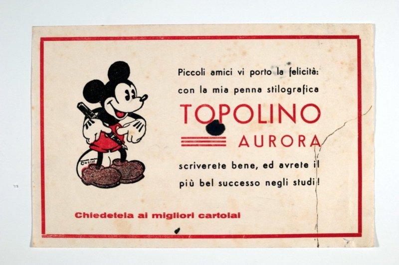 Volantino promozionale delle stilografiche Topolino