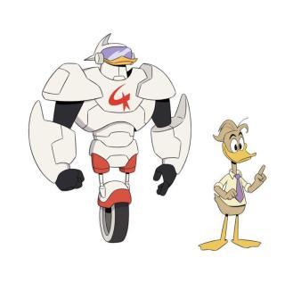 Tuta di Robopap, Fenton Paperconchiglia-Cabrera. Reboot di DuckTales.