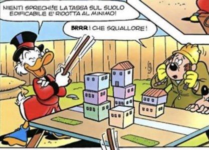 Paperone in una vignetta de Il ritratto di Zio Paperone