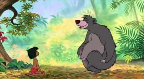 Baloo e Mowgli.