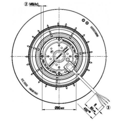 Centrifugal Fan R2E250-RB06-10