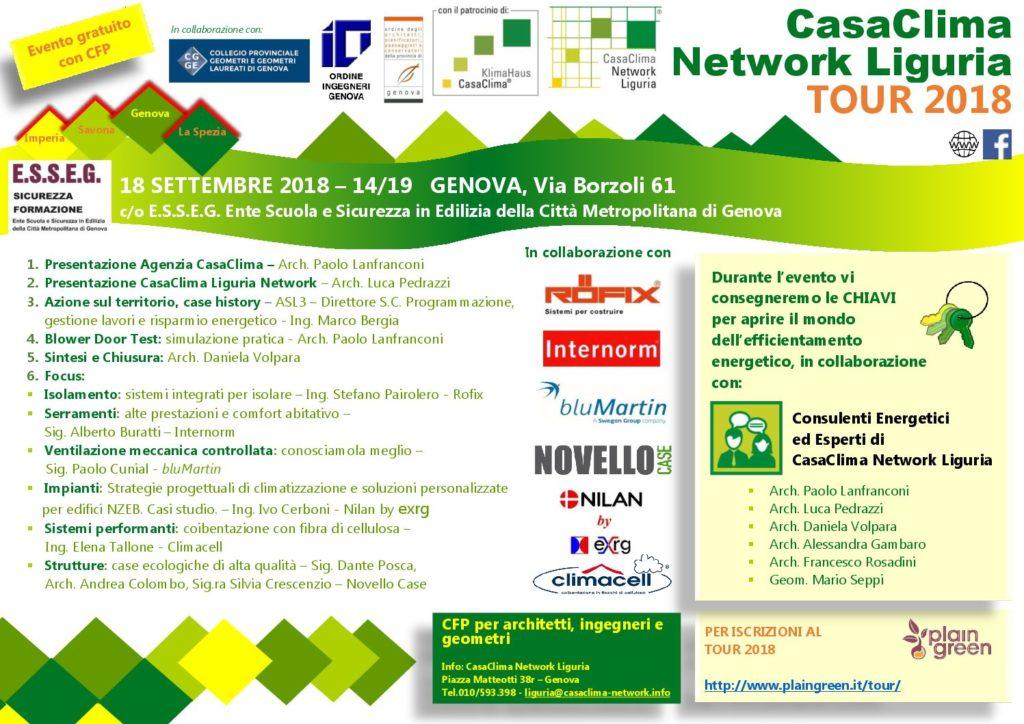 Prossimi incontri in Liguria  Ventilazione Casa