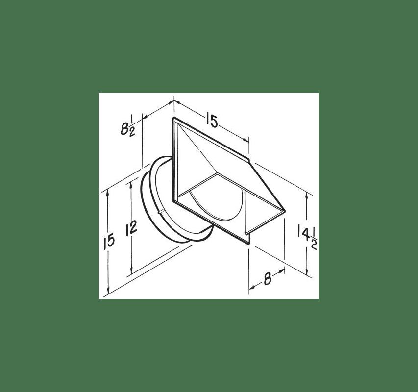 Broan 613 Aluminum 12