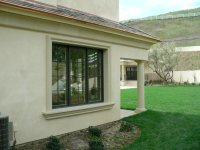 modern windows old stone house | Cast stone sill and ...