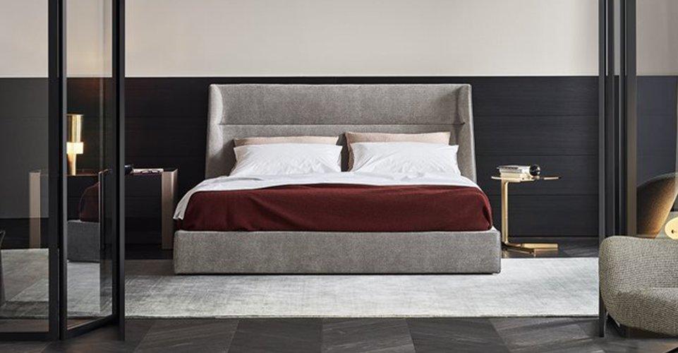 Sorretto da una struttura in legno dalle linee curve e delicate, il letto kelly si distingue per il particolare rivestimento del perimetro della base e per. Poliform Product Beds Ventura Interiors