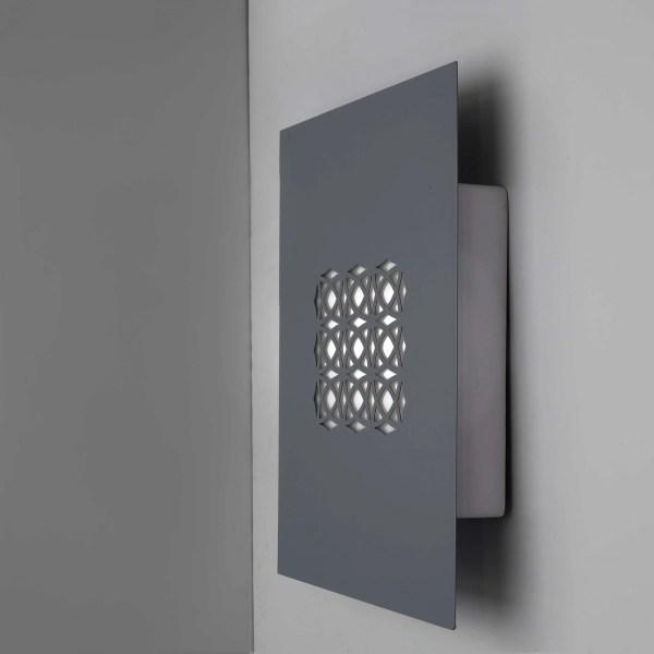 Lighting fixture designed with a rectangular Mashrabiya