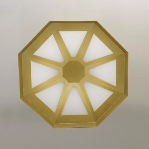 gold wheel light fixture