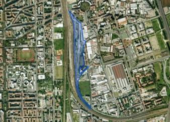 Lambrate area riqualifica visto dall'alto - Scalo Lambrate - Dal sito FS Sistemi Urbani