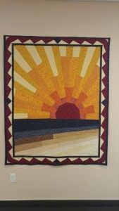 """My masterpiece 'Sunset on Moda Beach' completed Aug. 2004. Original design."""