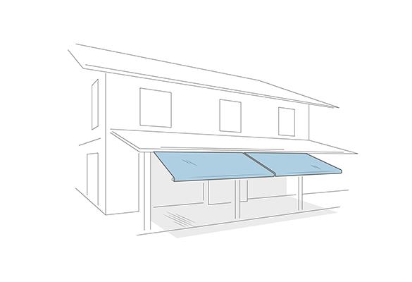 Tenda in strisce pvc mm 3x300 trasparente montaggio pronto cm la 150 x h 200. Tende Da Sole Resistenti In Pvc Per Esterni Venturello Poirino To