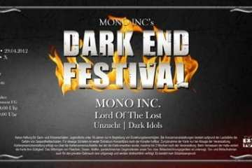 Official Ticket: Mono Inc. - Dark End Festival 2012
