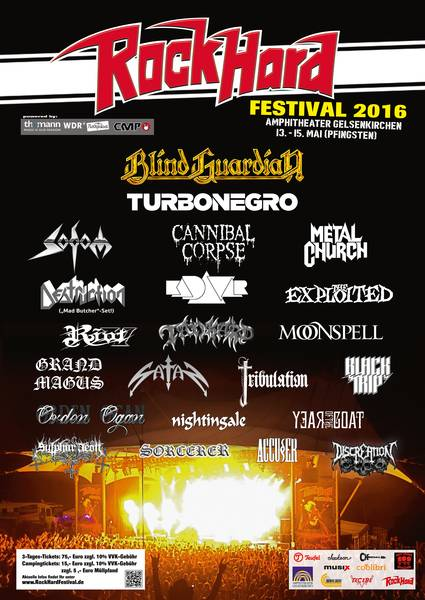 Official Flyer: Rock Hard Festival 2016