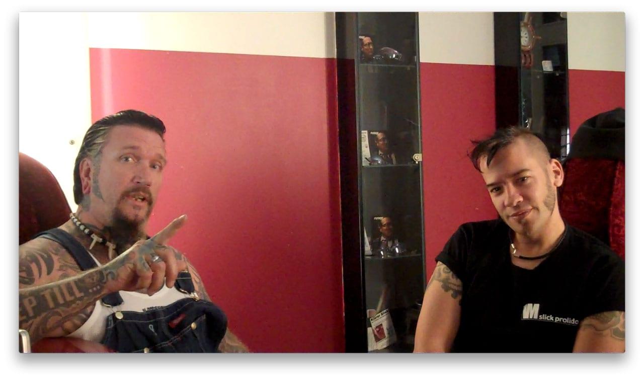 Beim Interview: Ski King und Slick Prolidol