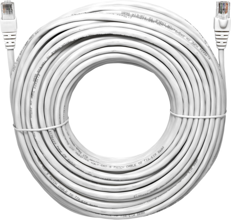 Truon 100ft UTP / Premium CAT5E pre-made cable (CB-C5UA100)
