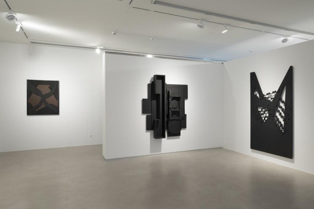 """""""Louise Nevelson. Assemblages e Collages"""", a cura di Bruno Corà, 2017, Cortesi Gallery, Lugano, foto di Ginevra Agliardi."""