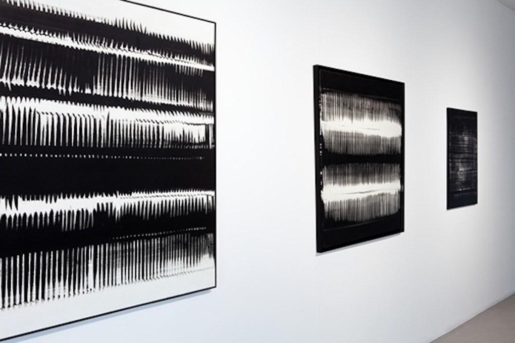 """""""Heinz Mack. The Visible Reminder of Invisible Light"""", a cura di Mario Codognato, 2016, Cortesi Gallery, Lugano, foto di Ginevra Agliardi."""