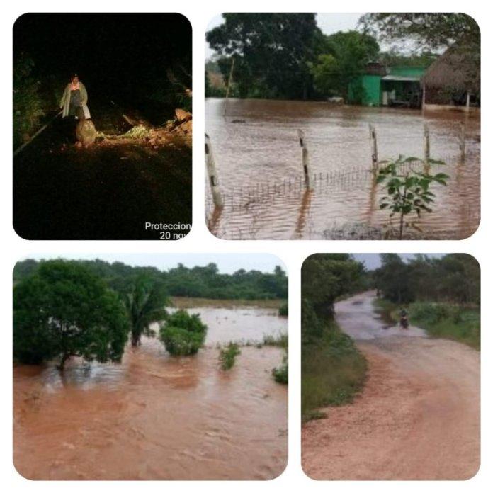 Alerta en el sur de Veracruz por crecida de ríos y arroyos.