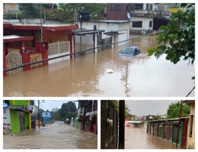 Más de ocho mil personas y dos mil viviendas afectadas por lluvias en Agua Dulce. (Fotos: FonsecaMedici/Twitter)